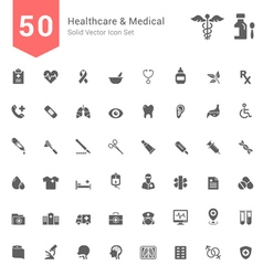 Healthcare and Medical Solid Icon Set vector image vector image