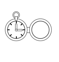 line clock of pocket to know the time vector image