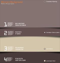 Modern brown design layout vector image vector image