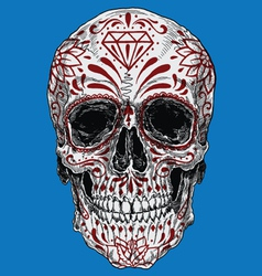 Realistic Day of the Dead Sugar Skull vector image vector image