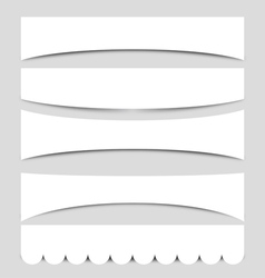 Set of Banner Shapes vector image vector image