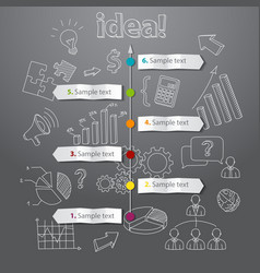 Timeline idea generation concept background vector image vector image