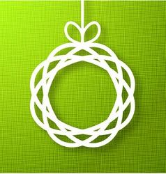 Abstract Circle Paper Applique on Green Background vector image vector image
