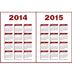 Calendar 20142015 vector image vector image
