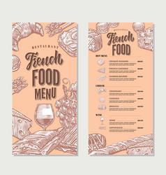 french food restaurant menu vintage template vector image vector image
