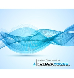 Abtract waves background for brochures and flyers vector image