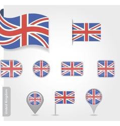 Flag of United Kingdom vector image