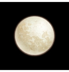 Full moon on black background vector image vector image