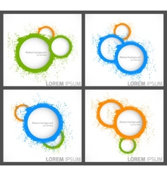 Abstract backgrounds with circles vector image vector image