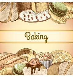 Baking pastry poster vector image vector image