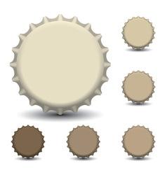 Bottle caps vector image vector image