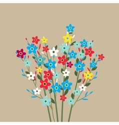 flowers bouquet spring flowers vector image