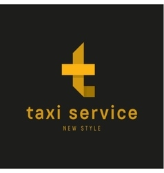 Logos Taxi Service sign Abstract geometrical vector image vector image