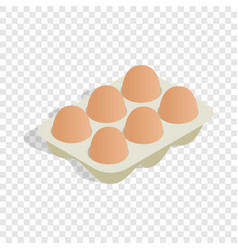 packaging for eggs isometric icon vector image vector image