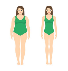 a woman before and after vector image vector image