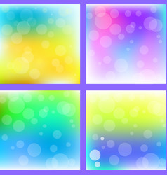 abstract colorful blur background set vector image