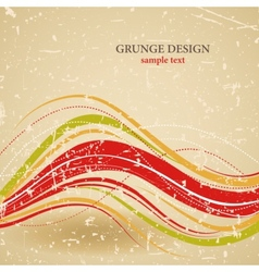 abstract grunge design vector image