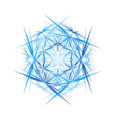 Abstract ice crystal thorns round abstraction vector