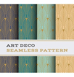 Art Deco seamless pattern 01 vector image