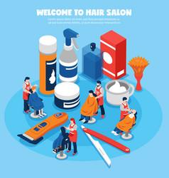 barbershop concept vector image