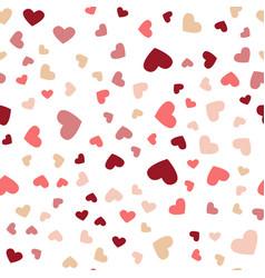 beautiful confetti hearts falling greeting card vector image