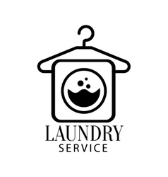 Black And White Sign For The Laundry And Dry vector image