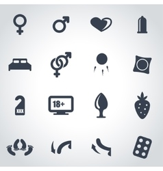 black sex icon set vector image