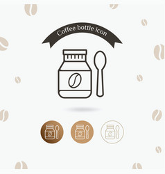 bottle of coffee beans icon vector image