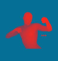 boxer 3d model of man human body vector image