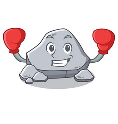Boxing stone character cartoon style vector