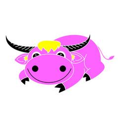 Buffalo cartoon vector