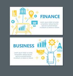 business finance banner set vector image