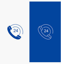 Call communication phone support line and glyph vector