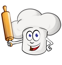 chef cartoon with rollin pin cartoon vector image