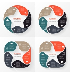 Circle star infographic Template for diagram graph vector