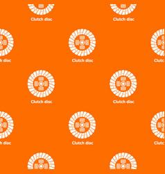 Clutch disc pattern orange vector