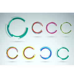 Collection of rings for advertising vector image