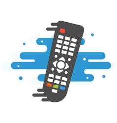 Colored TV remote controller vector