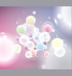 colorful molecules vector image