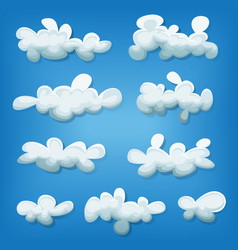 Comic clouds set vector