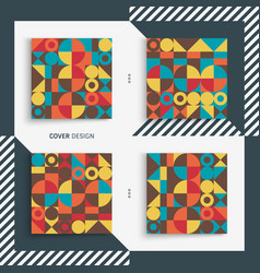 cover design template for advertising vector image