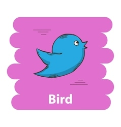 Cute cartoon bird icon vector image