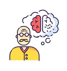 Dementia rgb color icon vector
