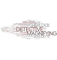 Detective word cloud concept vector