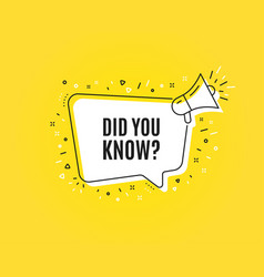 Did you know symbol special offer question sign vector
