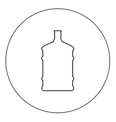 Dispenser large bottles icon black color in circle vector