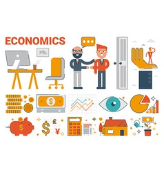Economics infographic elements and icons vector image