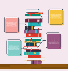 education infographic flat design modern concept vector image