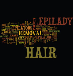 Epilady hair removal innovator text background vector