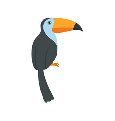 Exotic toucan icon flat style vector